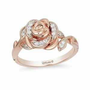 Enchanted Disney Belle 1/10 CT. T.W. Diamond Rose